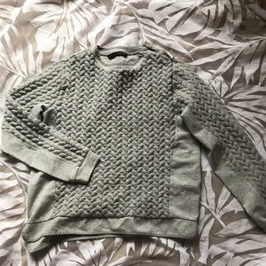 Quilted Gray Pullover